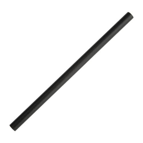 FB145 Fiesta Green Compostable Paper Smoothie Straws Black (Pack of 250)